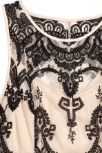 Lace dress - Beige/Black - Ladies | H&M 3