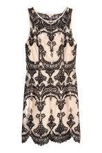 Lace dress - Beige/Black - Ladies | H&M 2