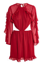 Frilled dress - Red - Ladies | H&M 2