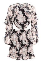 Frilled dress - Black/Floral - Ladies | H&M 2