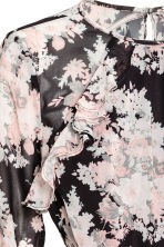 Frilled dress - Black/Floral - Ladies | H&M 3
