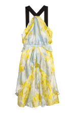 Silk chiffon dress - Yellow/Floral - Ladies | H&M 2