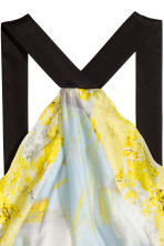 Silk chiffon dress - Yellow/Floral - Ladies | H&M 4