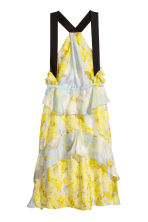Silk chiffon dress - Yellow/Floral - Ladies | H&M CA 3