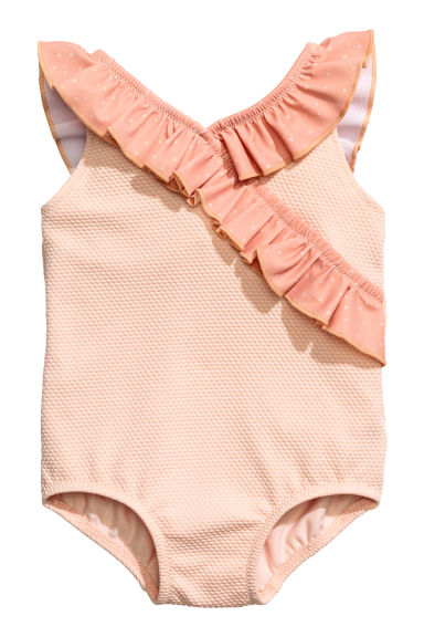 Frilled swimsuit - Powder pink - Kids | H&M