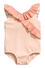 Frilled swimsuit - Powder pink -  | H&M CA 1