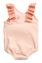Frilled swimsuit - Powder pink -  | H&M CA 2