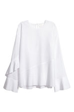 Silk-blend blouse - White - Ladies | H&M CA 2