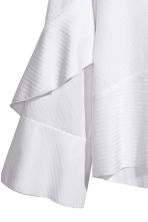 Silk-blend blouse - White - Ladies | H&M CA 3