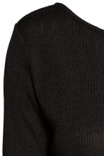 Ribbed top - Black - Ladies | H&M CN 3