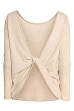 Ribbed top - Light beige - Ladies | H&M 3