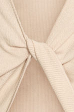 Ribbed top - Light beige - Ladies | H&M 4