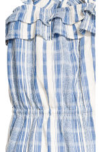 Cotton dobby romper suit - Blue/White/Striped -  | H&M 3
