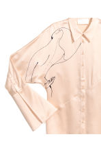 Silk blouse - Light beige -  | H&M CA 3