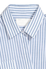 Silk-blend shirt - Blue/White/Striped -  | H&M 4