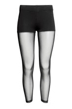 Mesh leggings - Black - Ladies | H&M 1