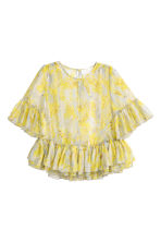 Lyocell-blend blouse - Yellow/Floral - Ladies | H&M IE 2