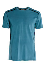 Short-sleeved sports top - Petrol blue - Men | H&M CN 2