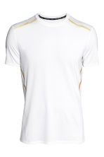 Short-sleeved sports top - White - Men | H&M 2