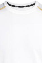 Short-sleeved sports top - White - Men | H&M 3