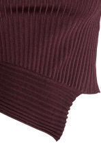 Knitted silk top - Plum -  | H&M 3