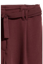 Trousers with a tie belt - Burgundy - Ladies | H&M GB 3