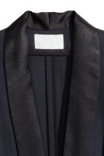 Silk-blend jacket - Dark blue -  | H&M IE 4