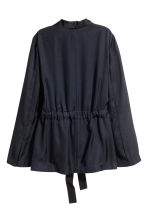 Silk-blend jacket - Dark blue -  | H&M IE 3