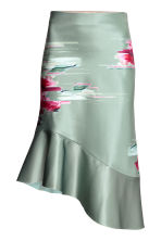 Bonded silk skirt - Dusky green/Patterned -  | H&M IE 2