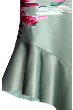 Bonded silk skirt - Dusky green/Patterned -  | H&M IE 3