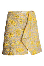 Jacquard-weave skirt - Yellow/Patterned - Ladies | H&M 2