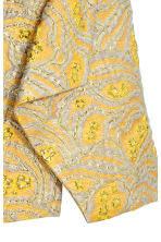Jacquard-weave skirt - Yellow/Patterned -  | H&M 3