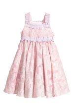 Embroidered tulle dress - Light pink -  | H&M 2