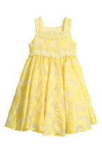 Embroidered tulle dress - Yellow -  | H&M 2