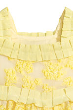 Embroidered tulle dress - Yellow -  | H&M 4