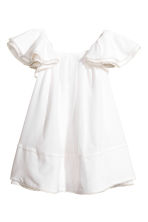 Silk-blend dress - White - Kids | H&M CN 2