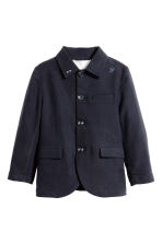 Lyocell-blend jacket - Dark blue -  | H&M 2