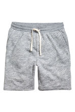 Knee-length sweatshirt shorts - Blue marl - Men | H&M 2