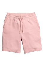 Knee-length sweatshirt shorts - Dusky pink - Men | H&M 2