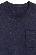T-shirt with a chest pocket - Dark blue marl - Men | H&M 2