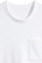 T-shirt with a chest pocket - White -  | H&M CN 3