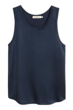 Vest top - Dark blue - Men | H&M CA 2
