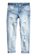 Relaxed Tapered Jeans - 浅牛仔蓝 - Kids | H&M CN 2
