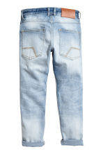 Relaxed Tapered Jeans - 浅牛仔蓝 - Kids | H&M CN 3
