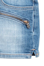 Denim shorts with zips - Denim blue - Kids | H&M 4