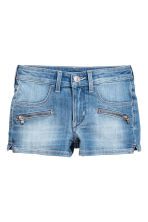 Denim shorts with zips - Denim blue -  | H&M 2