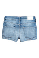 Denim shorts with zips - Denim blue -  | H&M 3