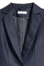 Tailored linen-blend jacket - Dark blue -  | H&M 3