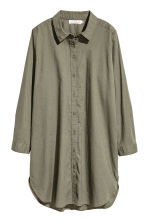 H&M+ Linen-blend shirt - Khaki green - Ladies | H&M 2