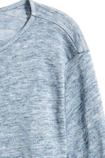 H&M+ Linen top - Light blue marl - Ladies | H&M 3